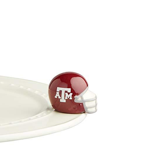 Nora Fleming Hand-Painted Mini: Texas A&M Helmet (Texas A&M University Football Helmet) A313