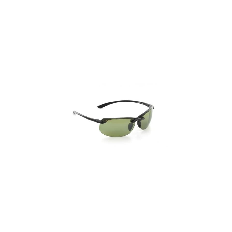 Maui Jim Banyans Sunglasses   Polarized Gloss Black/Hi Transmission, One Size