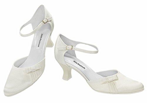 chaussures à mariage talons chaussures mariage Chaussures de Ivoire satin lanières mariée de Z1q776