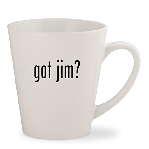 got jim? - White 12oz Ceramic Latte Mug - Jim Harbaugh Glasses