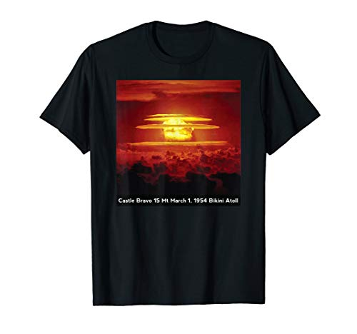 Castle Bravo Nuclear Bomb Atomic Test Mushroom Cloud T-Shirt