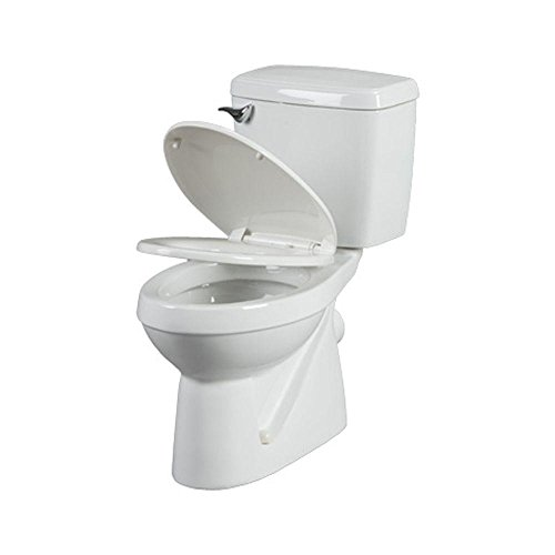 Thetford 38940 Bathroom Anywhere 2 Piece 1.6 GPF Round Toilet with Seat and .80 hp Macerating Pump, ()
