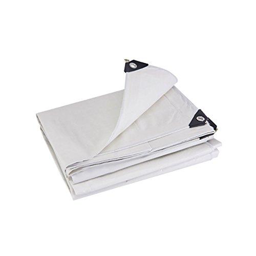 JNYZQ Verdicken Sie Wasserdichte Hochleistungsplane-Isolierungs-Zelt-Spleiß-Markise-Sonnenblende-regendichte Falle-Bodenblatt-Abdeckungen Schuppen-Stoff-LKW-Abdeckung-Weiß, 175G   M² (größe   4  6m)