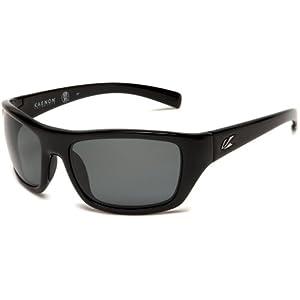 Kaenon Men's Kanvas Polarized Rectangular Sunglasses, Black, 40 mm