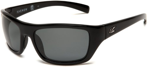 Kaenon Men's Kanvas Polarized Rectangular Sunglasses, Black, 40 mm