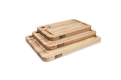 John Block MPL2015125-FH-GRV Prestige Maple Grain Board with Juice Inches x