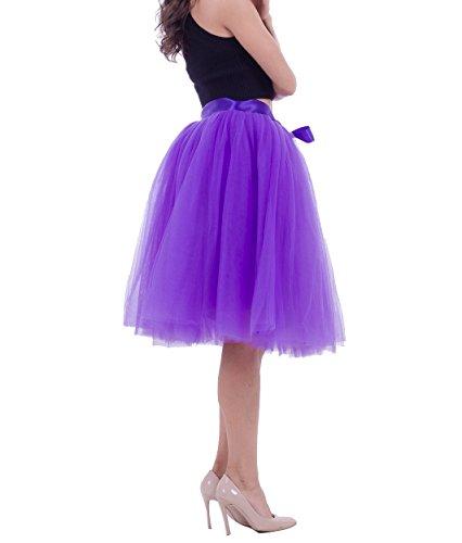 Jupe tutu Jupon couleurs varies Violet tulle Pettiskirt en Femme Rockabilly courte CwHZ7xq