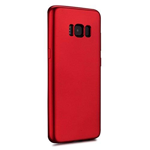 Vanki? Coque Galaxy S8 , Ultra Rigide Lger 360 Case Degres Souple 2-en-1 [PC+TPU] Rcurer Protector Shell pour Samsung Galaxy S8 Plus Rouge