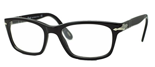 Persol PO3012V Eyeglasses 100% Authentic (52 mm, Shiny Black Frame) (Eyeglasses For Women Persol)
