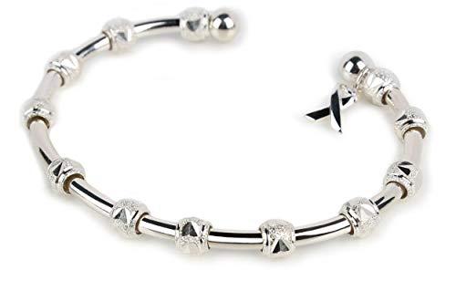 Golf Goddess Stroke/Score Counter Bracelet - Silver with Cause Ribbon Charm ()