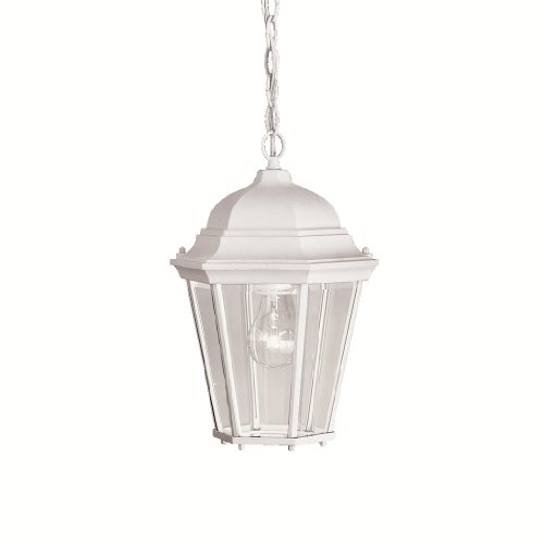 Kichler 9805WH One Light Outdoor Pendant (Traditional Outdoor Pendant Light)