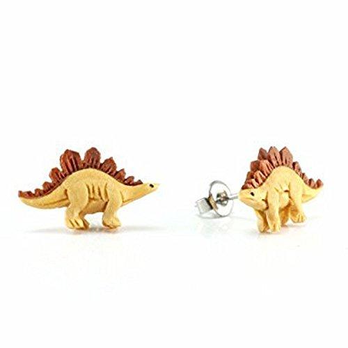 Stegosaurus Wood (WildKlass Stegosaurus Makerpin Earring Studs)