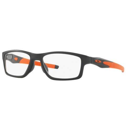 Oakley Crosslink Radiation Safety X-Ray Imaging Glasses - 0.75mm Lead Glass (Satin Black Ink, Anti-Reflective Coating on 0.75mm Lead Glass)