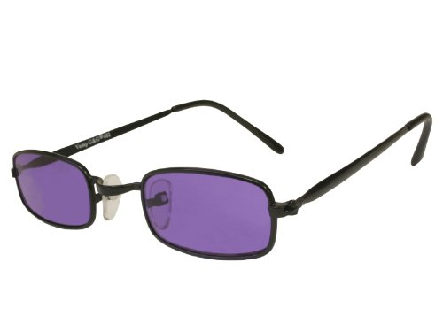 G&G Extra SMALL Costume Gothic Vampire Party Glasses Purple Lens (Black, Purple) - G Man Costume