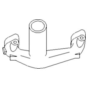 Vertical Exhaust Manifold - Ford New Holland Tractor Super Dexta Vertical Exhaust Manifold Part No: A-957E9430A