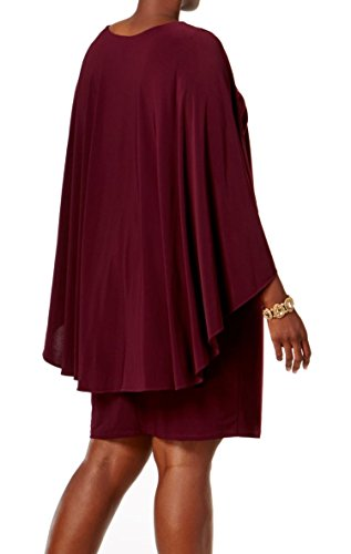 Betsy & Adam Femmes Plus Jersey Mat Embelli Purples Robe De Capelet