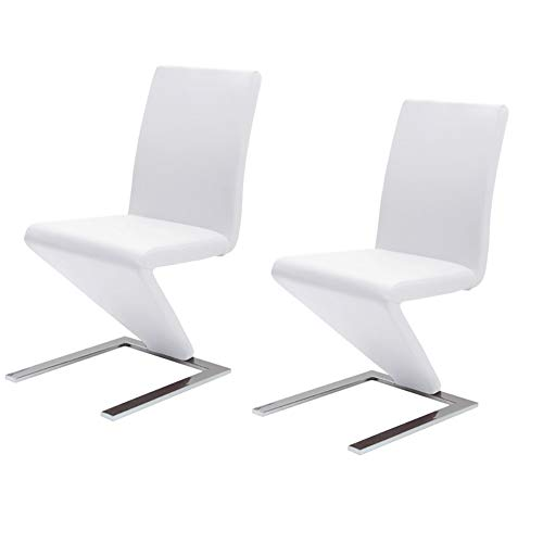 HBSTOOL Set of 2 Barstool Outdoor Garden Furniture Chair High Back for Home Commercial Restaurants Office,White (Uk Conservatory Furniture Sets)