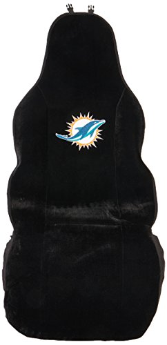 Fremont Die NFL Miami Dolphins Seat Cover, One Size, Black
