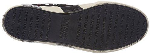 Hilfiger Denim Herren Tommy Jeans Suede Sneaker Schwarz (Black 990)