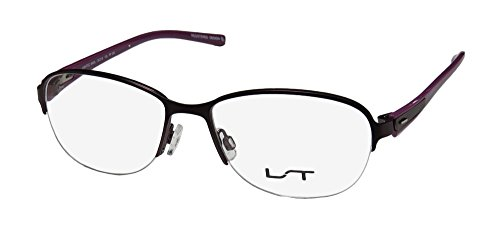 Lightec 6963l Womens/Ladies Rx-able Popular Design Designer Half-rim Spring Hinges Eyeglasses/Spectacles (53-16-135, - Popular Frames Eyeglass