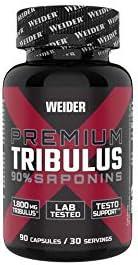 Weider Premium Tribulus mit 90% Saponinen und Zink Reicht für 90 Tage, Fitness & Bodybuilding, 105 g