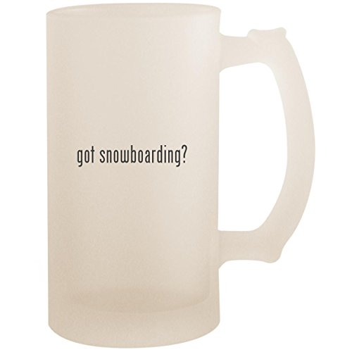 - got snowboarding? - 16oz Glass Frosted Beer Stein Mug, Frosted
