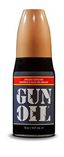 GUN OIL Silicone Lubricant - Hypoallergenic Silicone-Based Lubricant Enriched With Aloe Vera & Vitamin E For Maximum Comfort And Long-Lasting Lubrication ( 8 Fluid Ounce - 236 Milliliter )