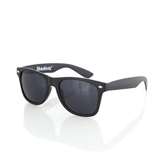 (Shaderz Classic Glossy Black Retro 80's Wayfarer Sunglasses)