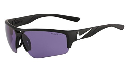 Nike EV0873-010 Golf X2 Pro E Sunglasses (One Size), Matte Black/White, Max Golf Tint Lens