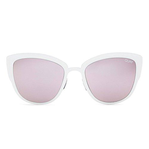 Quay Australia SUPER GIRL Women's Sunglasses Oversized Cat Eye Flashy - - Australia Eye Cat Sunglasses