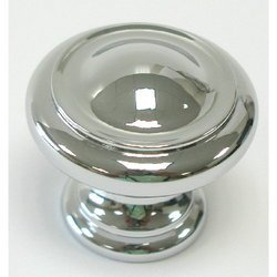 Top Knobs M1118 Nouveau III Collection 1-1/8 Inch Diameter Polished Chrome Mushr, Polished - Knob Traditional Finish 0.75