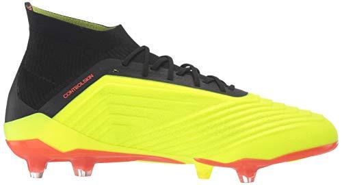 2514c630f9360 adidas Men's Predator 18.1 FG Soccer Shoe, Yellow/Black/Solar Red, 10  Medium US