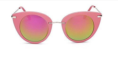 Mujer Gafas para CMCL Gafas Pink Sol Inoxidable Reflective Caminante Capullos de de Ultra Acero Moda Moda de Light Rq0Uwq