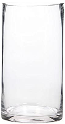 "Hosley's 9"" High Glass Vase - Ideal for Floral Arrangements and DIY Craft Projects"