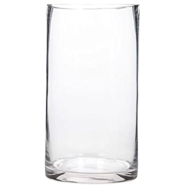 Hosley 9  High Floral Glass Vase. Ideal for Cut Flowers, Weddings, Aromatherapy, DIY Craft Projects, Votive Candle Gardens, Spa. Lanterns, Candle /Votive Holder