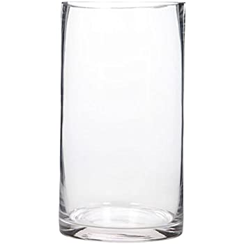 Amazon Com 1 X 6 Quot X 12 Quot Cylinder Vase For Use With Flower Or Candle Wedding Centerpieces