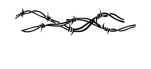 Barbed Wire Barb - Vinyl Decal Sticker, Die cut vinyl decal for windows, cars, trucks, tool boxes, laptops, MacBook - virtually any hard, smooth surface (Decals Barbed Wire)