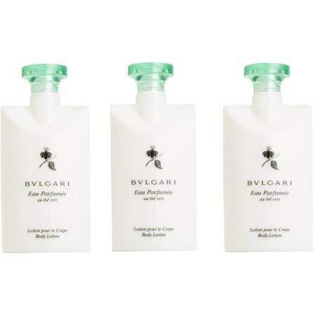 Bvlgari Au The Vert (Green Tea) Lotion - Set of 3, 2.5 Fluid Ounces Bottles ()