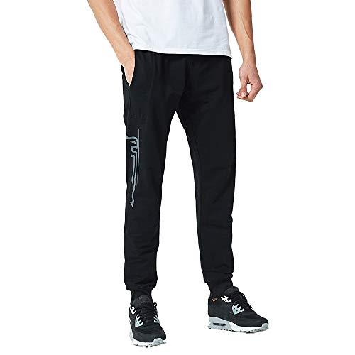 TANGSen Men's Autumn Cotton Elastic Print Pants Sports Casual Gym Run Jogger Pants Fashion Trousers(Black,XL) swim shirts for fat guys 11