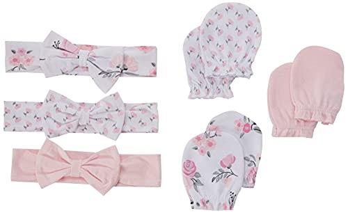 Hudson Baby Unisex Baby Cotton Headband and Scratch
