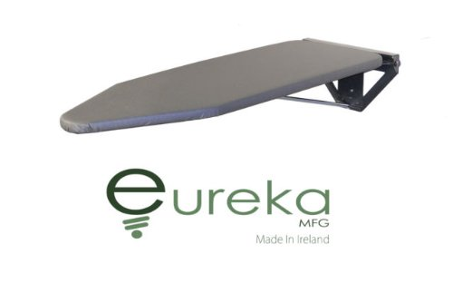 Compact Wall Mounted Ironing Board - Silver Wall Fixing Plate by Eureka_MFG
