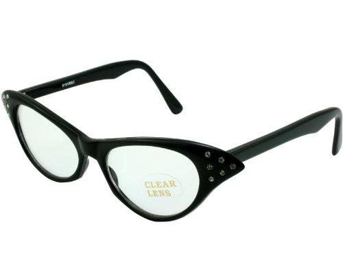 G&G Rhinestone Cat Eye 50s Party Sunglasses - 1950s Mens Sunglasses