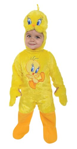 Rubie's Looney Tunes Tweety Bird Romper Costume, Yellow, 6-12 (Tweety Costumes)