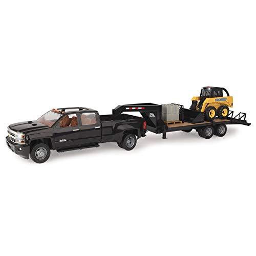 Pickup Deere John - John Deere TOMY 1/16 Big Farm Truck with Skid Steer