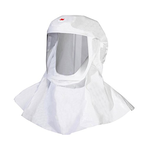 3M 00051131170834 Versaflo S-433L-5 Hood with Integrated Head Suspension for S-Series and V-Series PAPR and Supplied Air Systems, Lightweight, White (Pack of 5) by 3M