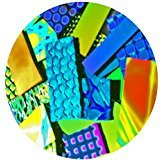 1-ounce Dichroic Bits and Pieces 96 COE Fusible Glass, Assorted Colors