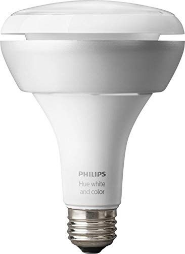 (Philips Hue White & Color Ambiance BR30 Extension Light Bulb, Works with Alexa)