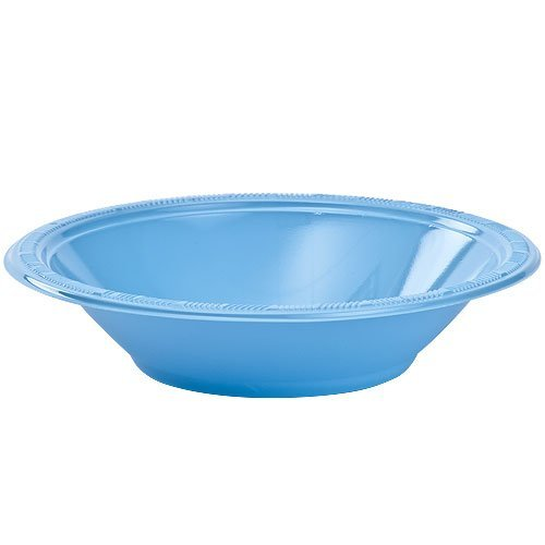(Hanna K. Signature Collection 50 Count Plastic Bowl, 12-Ounce, Light Blue)