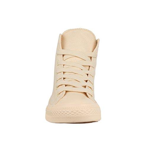 Baskets One Chunkyrayan Damen Unisexe Couleur Unisex Herren Une Colour Haut Sommet High Sneaker De Elara Top Beige CxtFUqW