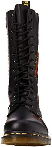 Donna Dr schwarz Martens black Black 12761001 Embroidery Vonda Stivali Nero xC6Cwq1Y